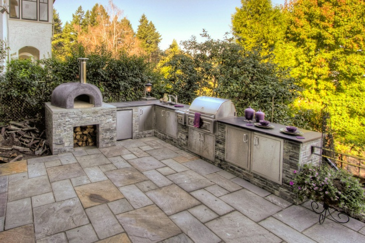 traditional outdoor kitchen design