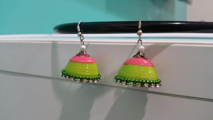 handmade quilling earrings