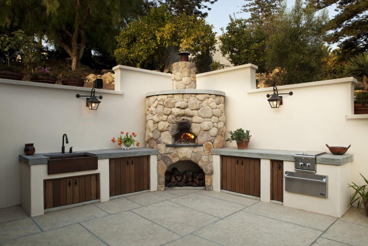 18 outdoor kitchen designs ideas design trends for Simple outdoor kitchen plans