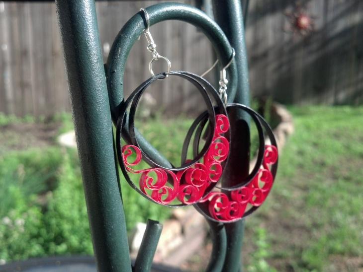 Beautiful Quilling Earrings