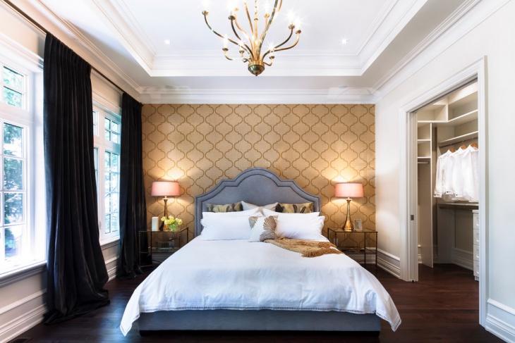 master bedroom wall design idea