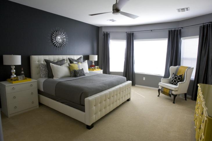 black wall master bedroom design