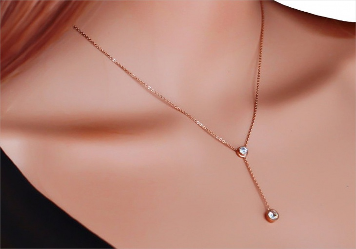 diamond drop necklace design