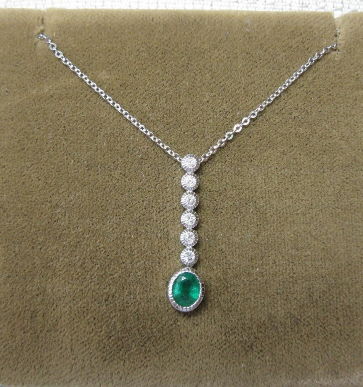 emerald diamond necklace design