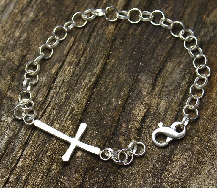handmade cross bracelet