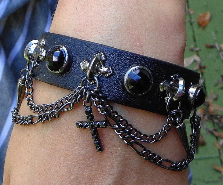 vintage cross bracelet