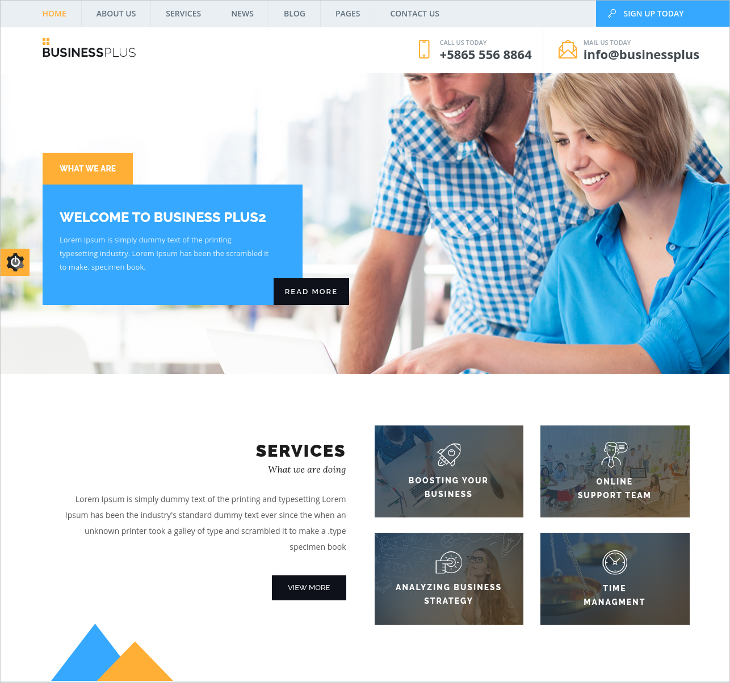 Business HTML5 Blog Theme