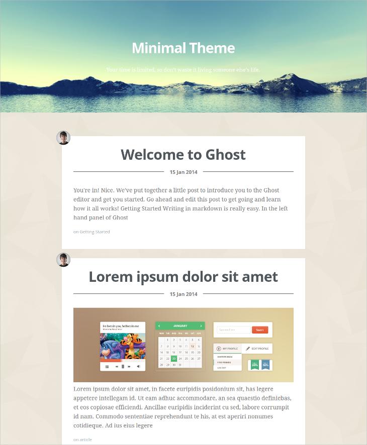 minimal html5 blog theme
