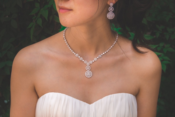 crystal bridal jewelry design