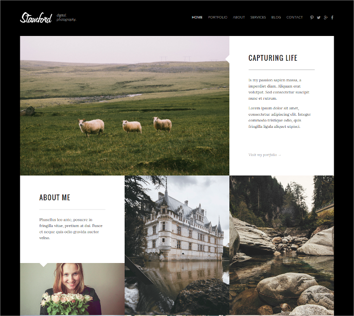 Photographer Responsive Blog HTML5 Template