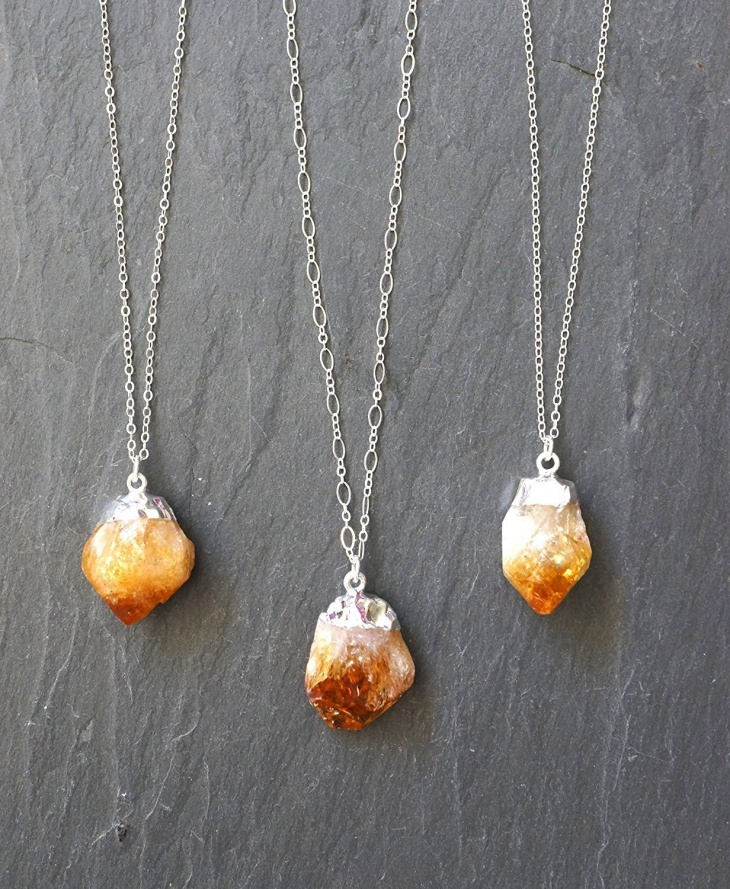 citrine crystal jewelry