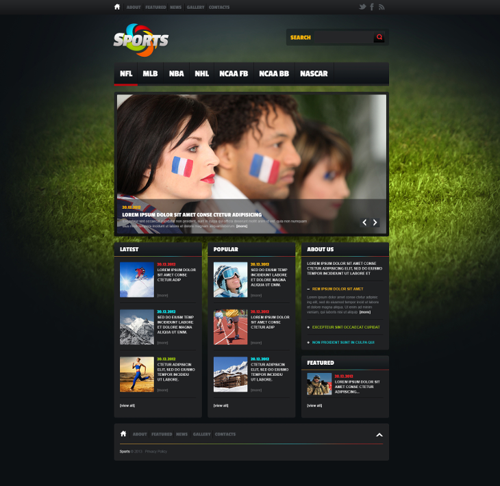 Sports News HTML5 Blog Template