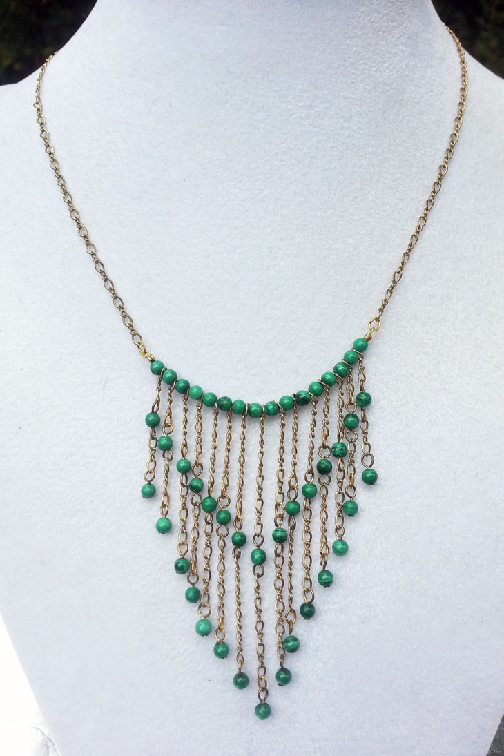malachite bib necklace