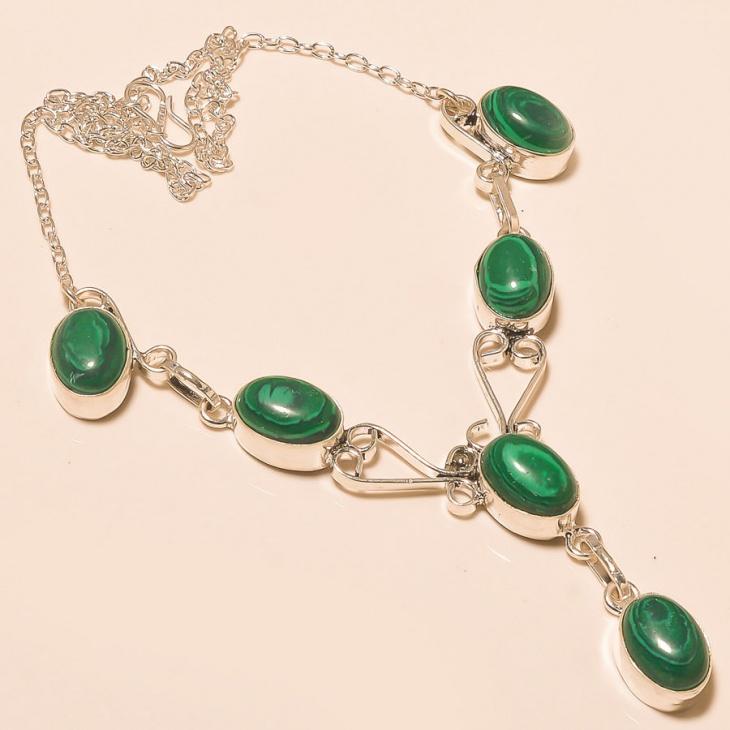 handmade malachite necklace