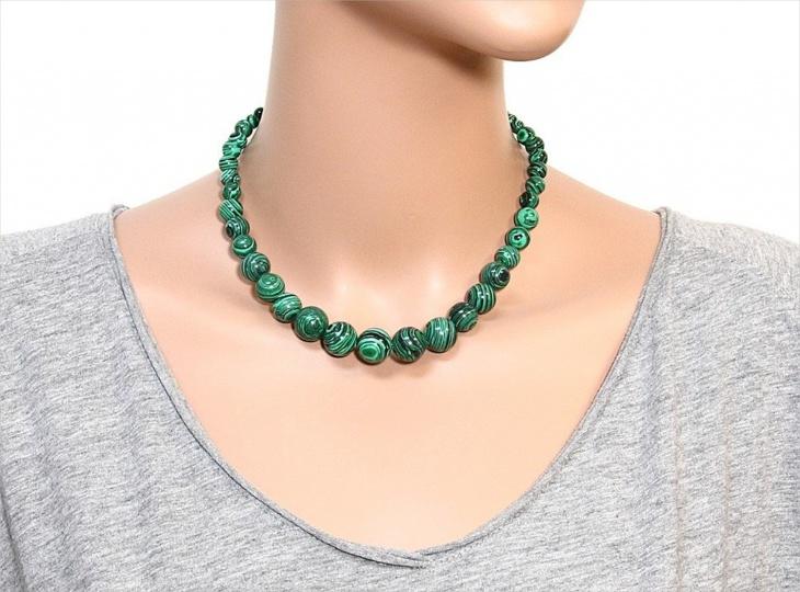 natural malachite gemstone necklace