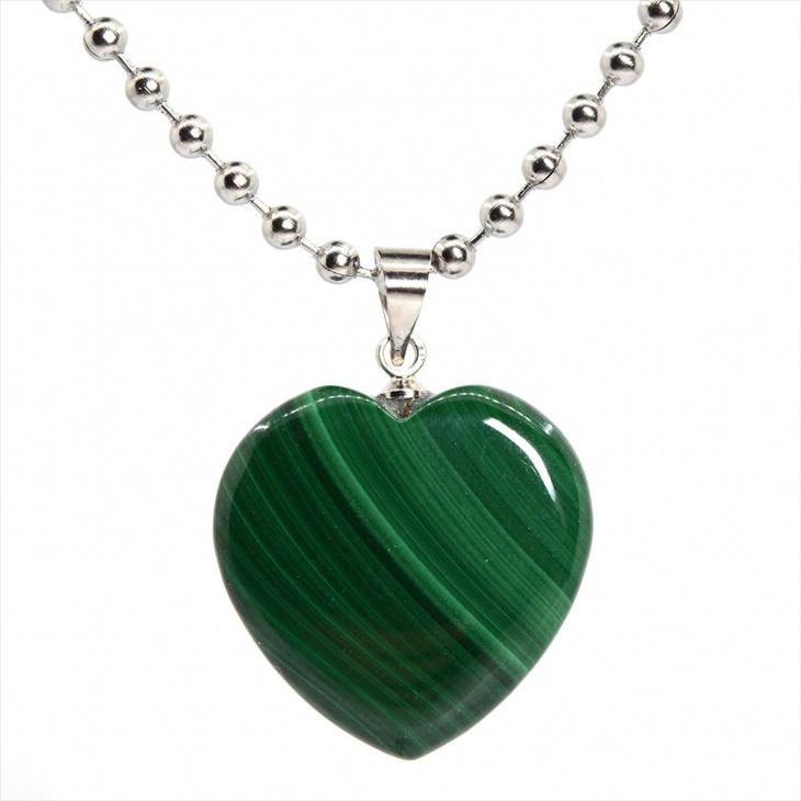 heart malachite necklace