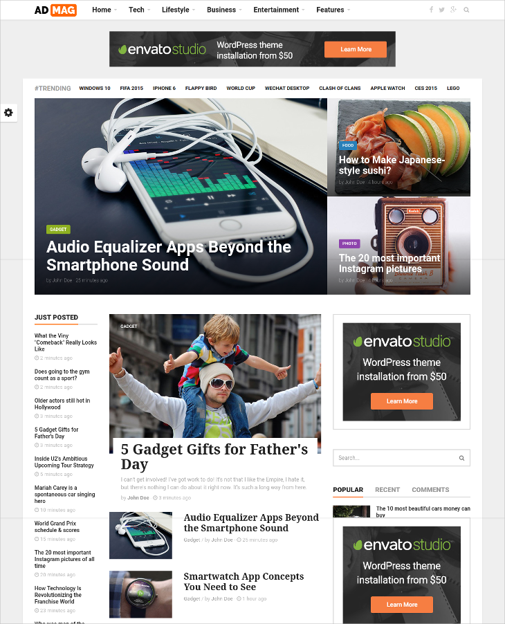 Clean Magazine & Blog HTML5 Template