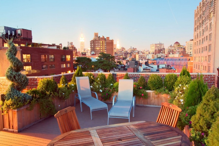 Small Rooftop Deck Design