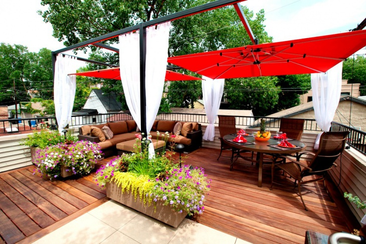 Urban Rooftop Deck Design Idea