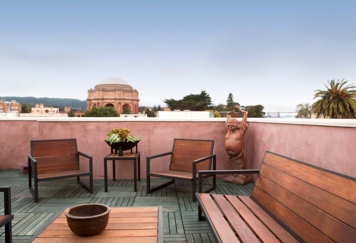 Rooftop Wood Deck