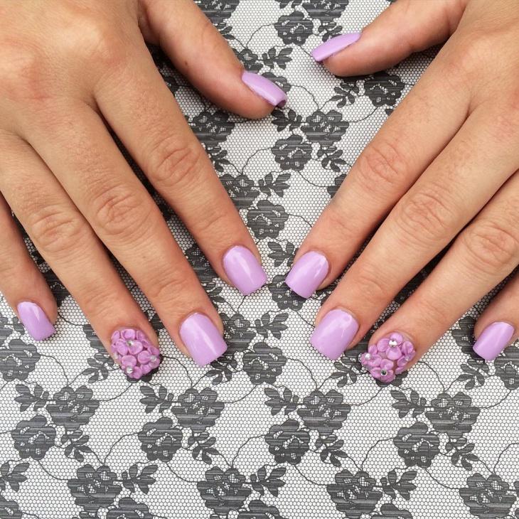 Cute Short Acrylic Nail Design