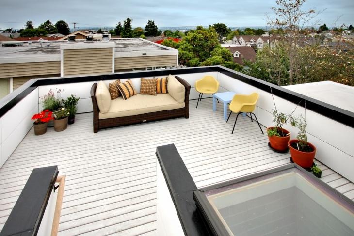 Farmhouse Rooftop Deck