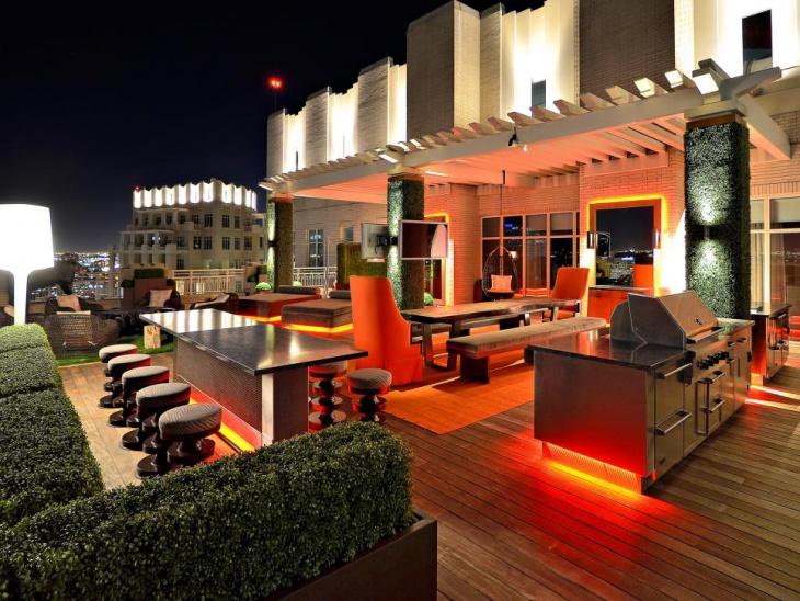 rooftop deck lighting idea