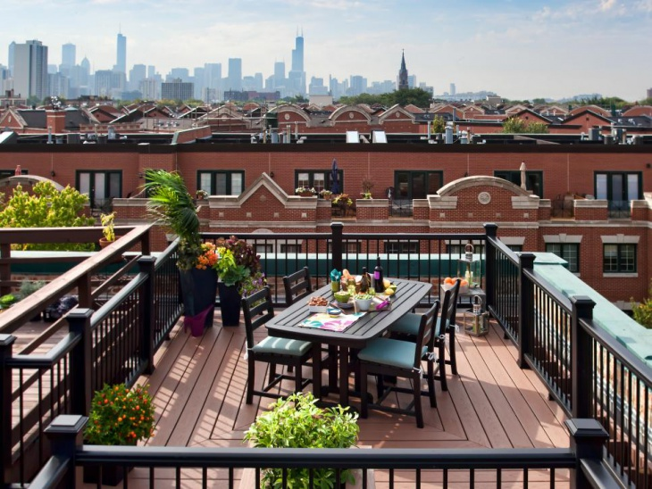 tiny rooftop deck idea