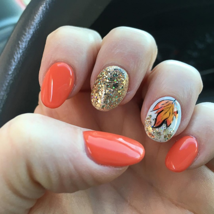 fall gel nail design