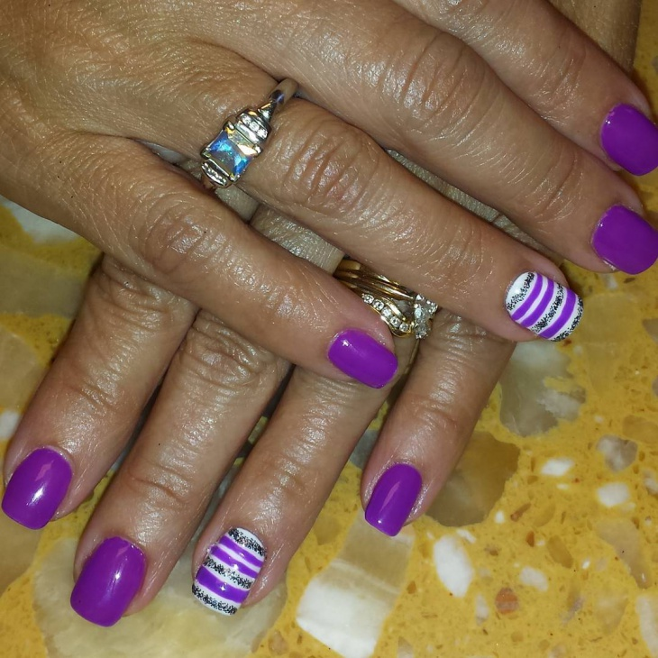 Purple Gel Nails Designs Radiotodorock
