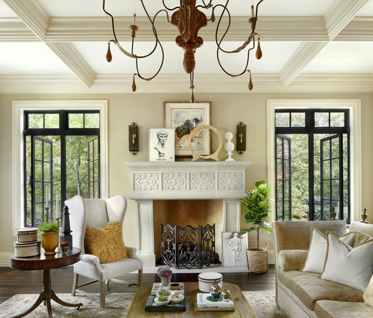 Traditional French Country Living Room