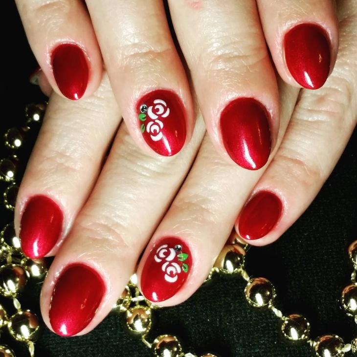 Cute Shellac Wedding Nail Design