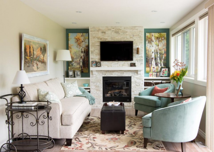 French Country Style Living Room Design