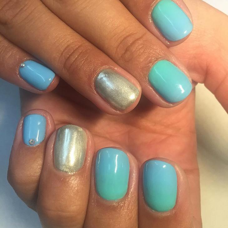shellac glitter nail design1