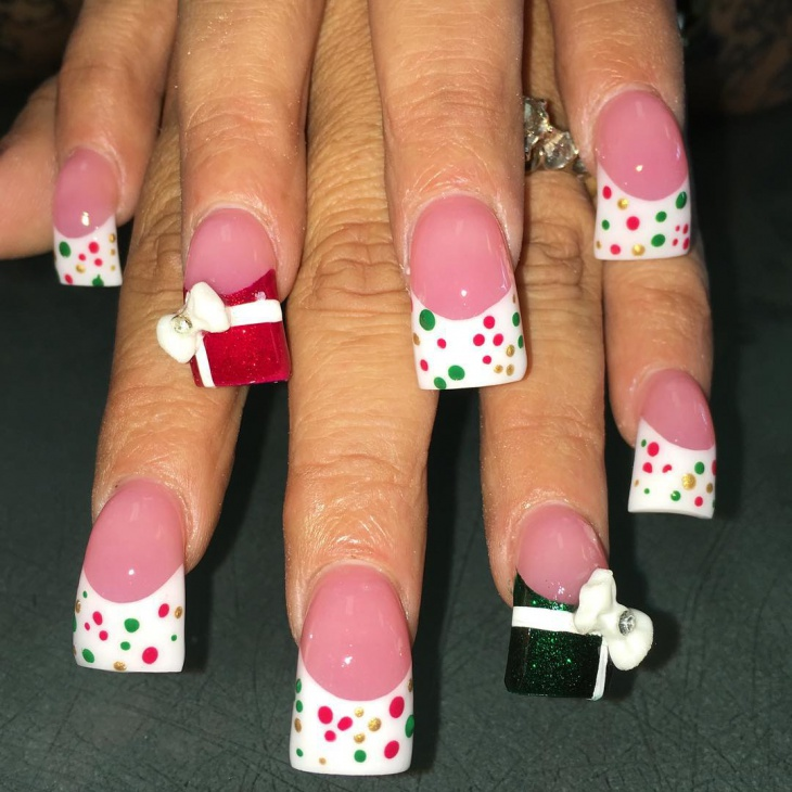 cute 3d bow nail design
