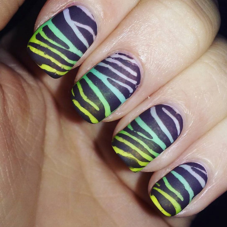 zebra stripe nail design