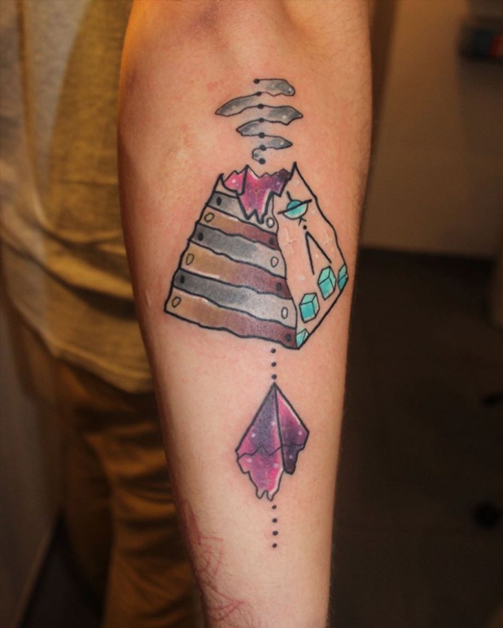broken pyramid tattoo idea