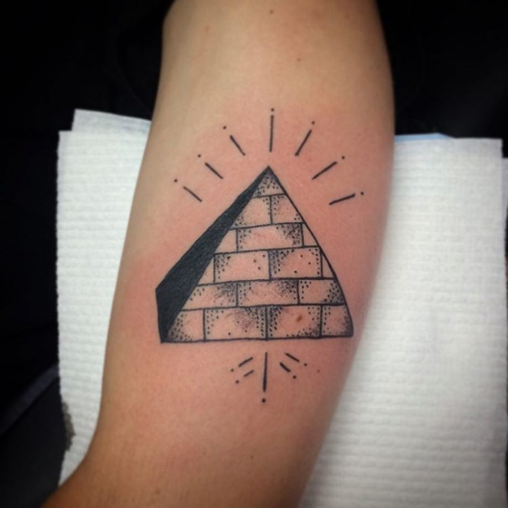 simple pyramid tattoo design