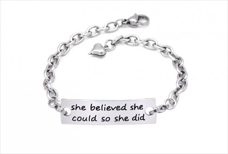 Stamped Metal Bracelet