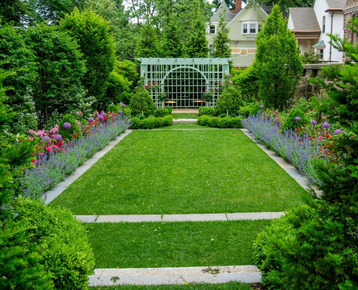 16 square garden designs ideas design trends premium for Designing a large garden from scratch