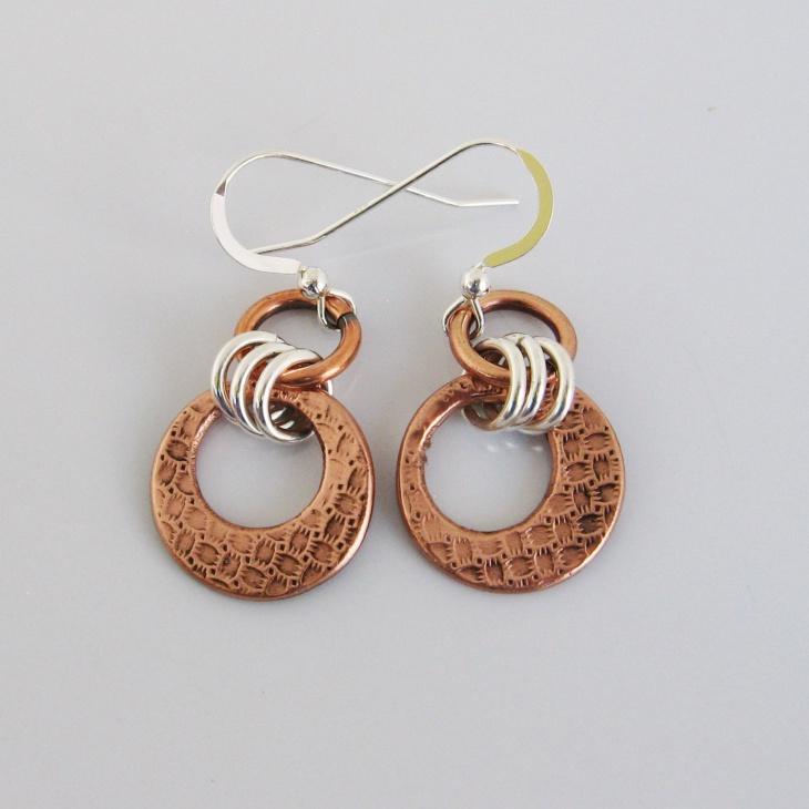 handmade metal earrings
