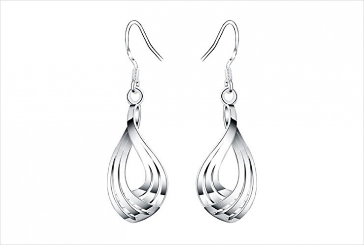 simple metal earrings design