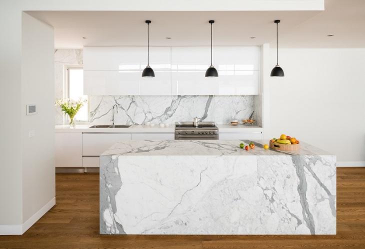 Modern Kitchen Island With Marble