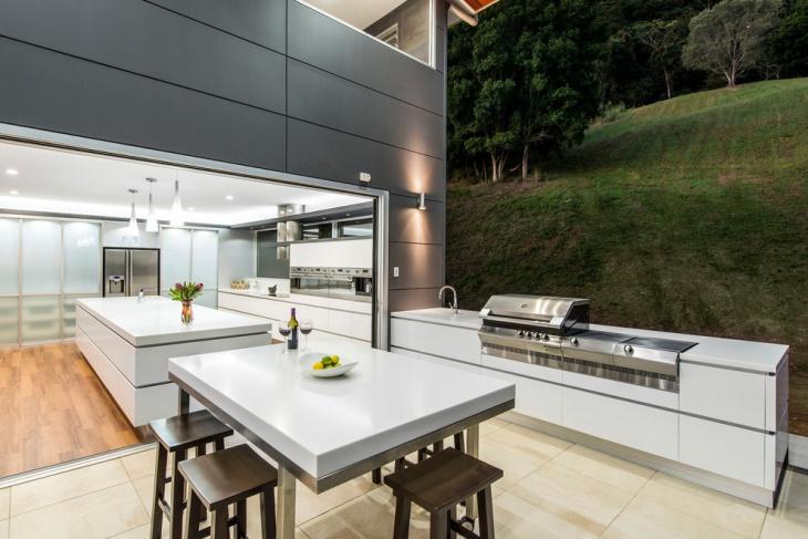 modern outdoor kitchen island