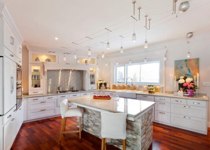 cottage modern kitchen island