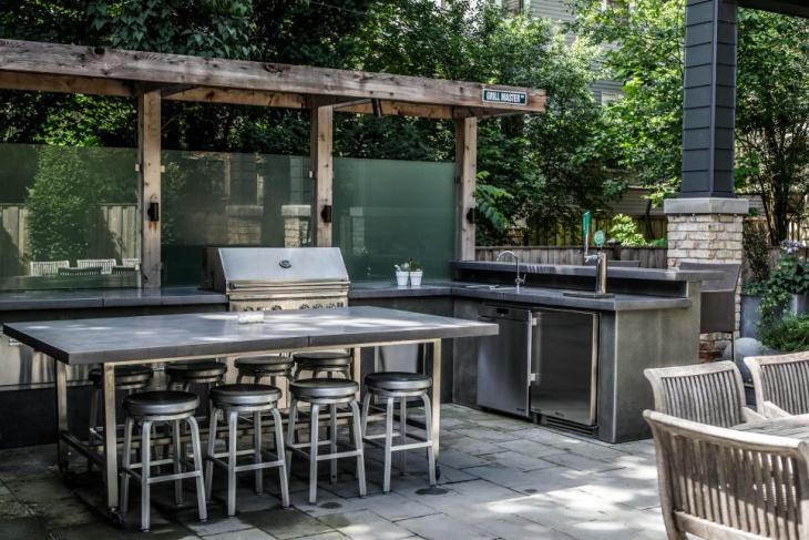 exterior modern kitchen island