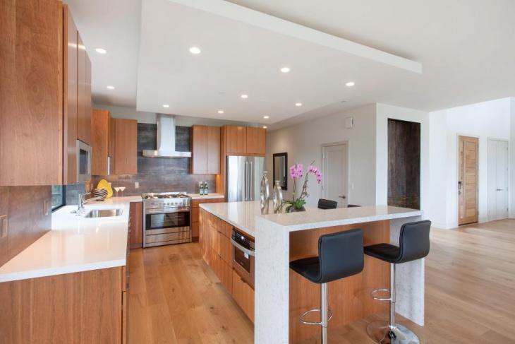 modern kitchen cabinet with island idea