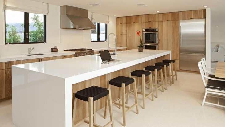 Awesome Modern Kitchen White Countertop Island