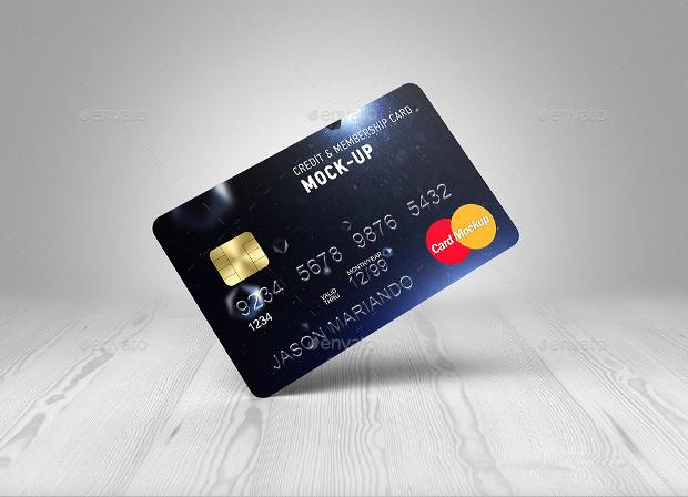 Black Credit Card Mockup