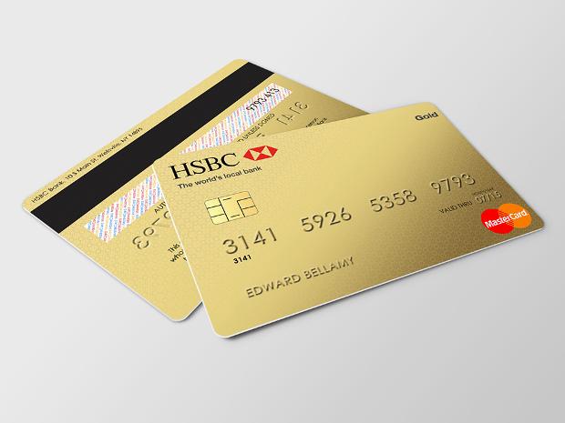 Silver Gold Credit Card Mockup